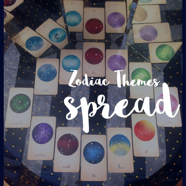 Zodiac Themes Tarot Spread (12 Cards)