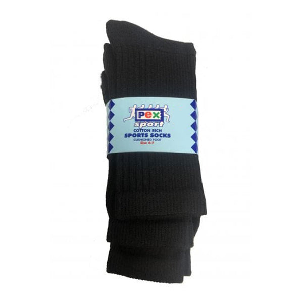Pex S4029 Sports 2PP socks Black