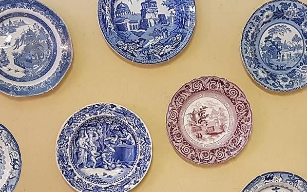 The blue and white Willow pattern
