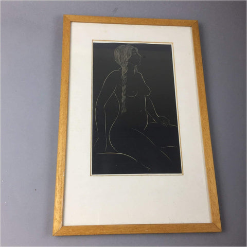 Art - Eric Gill, Female Nude Engraving