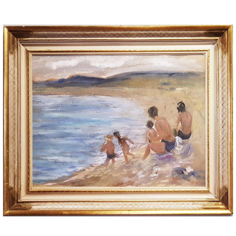 Art - Family Beach Scene