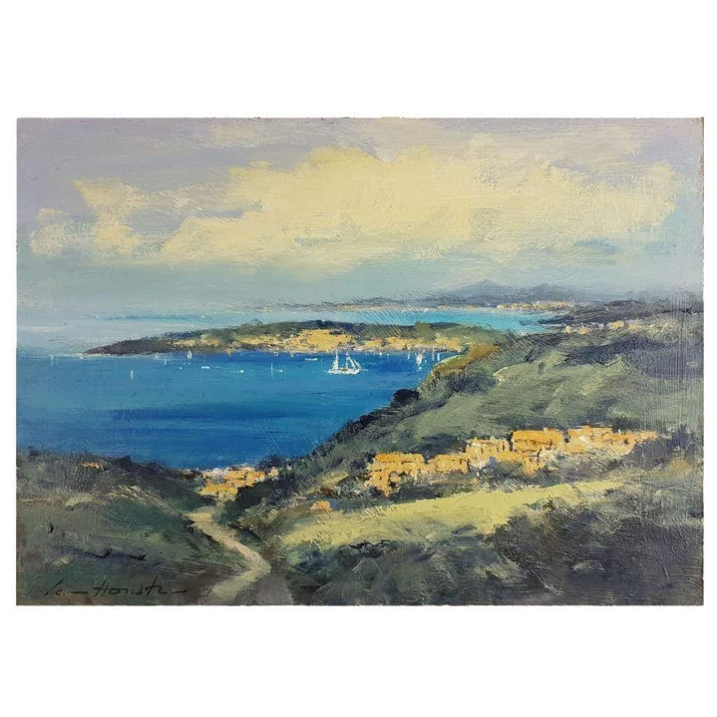 Art - Ian Houston, Looking Across Saint-Jean-Cap-Ferrat