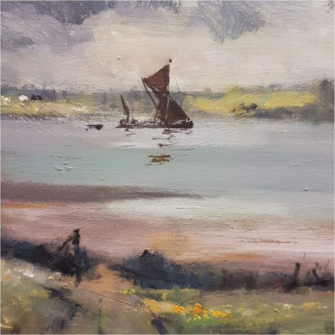 Art - Ian Houston, Sailing Barge  On The Stour