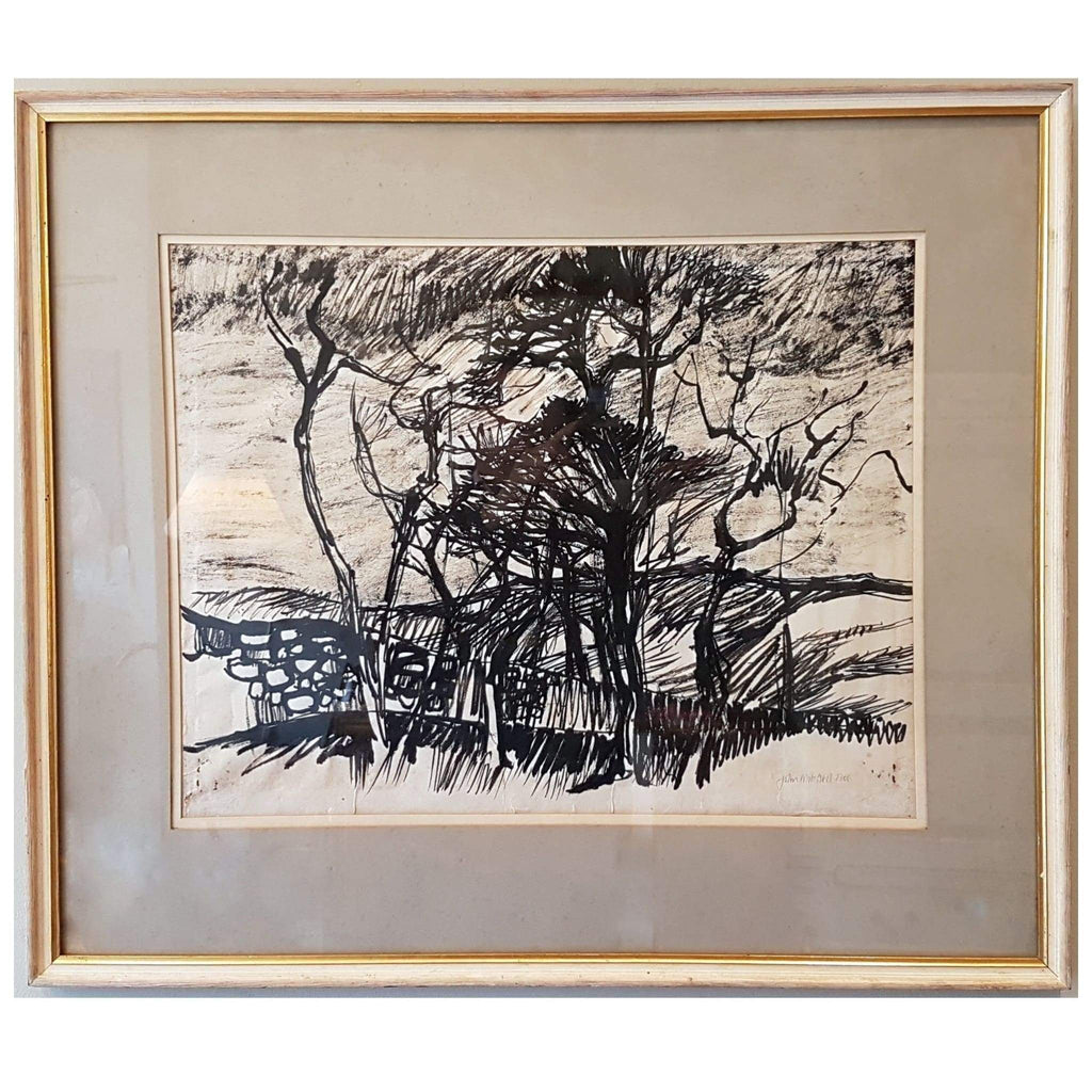 Art - John Mitchell Monochrome Watercolour