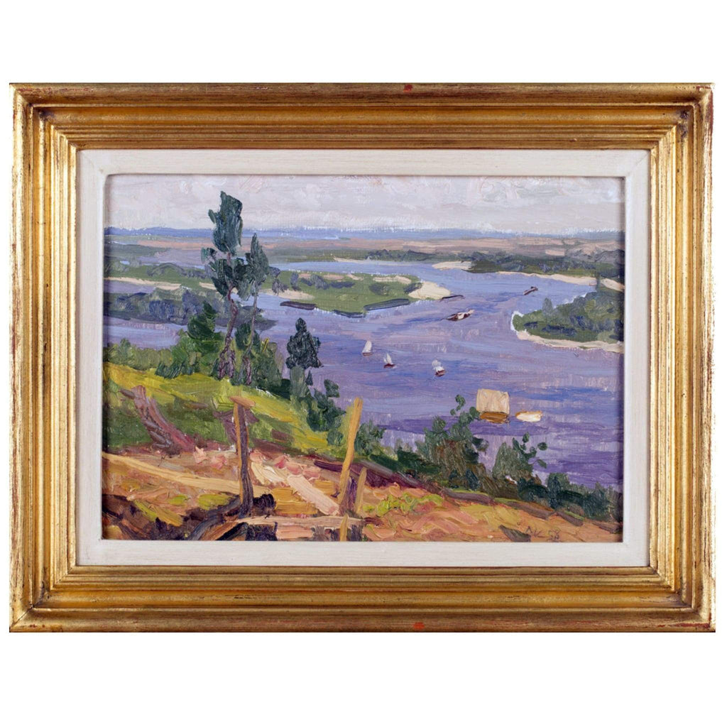 Art - Lysenko, Dnieper River Bank Near Kiev