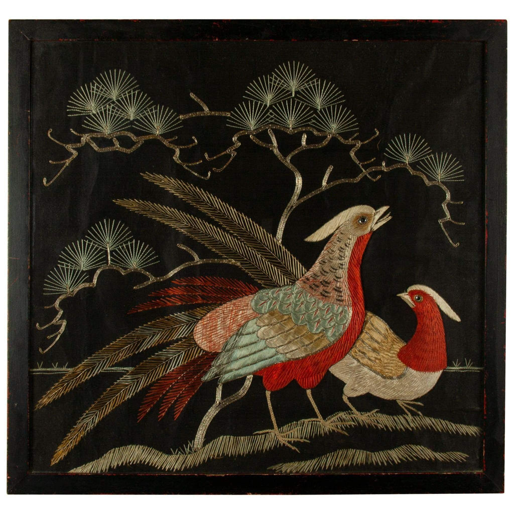 Art - Needlework Picture Of Birds