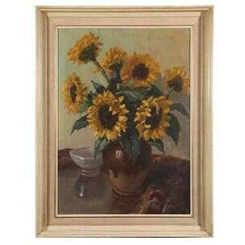Art - Still Life Of Sunflowers, English School