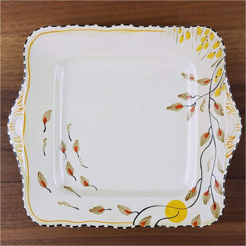 Ceramics - Art Deco Crown Devon Cake Plate