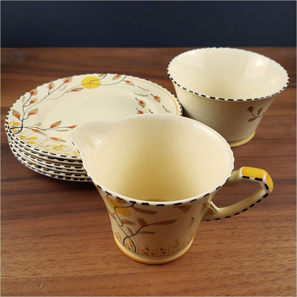 Ceramics - Art Deco Crown Devon Tea Set