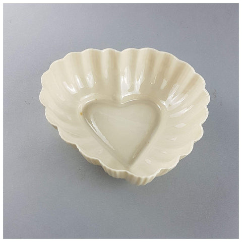 Ceramics - Heart Shaped Belleek Dish