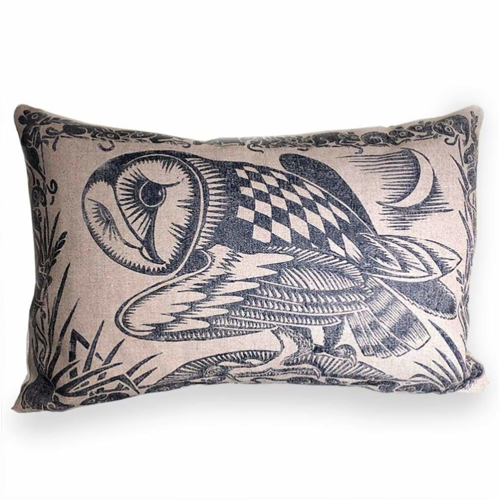 Cushions - Black Owl Cushion