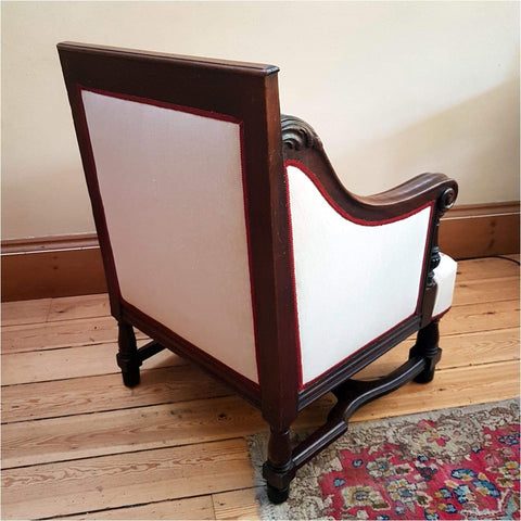 Furniture - C19th Empire Style Showframe Armchair
