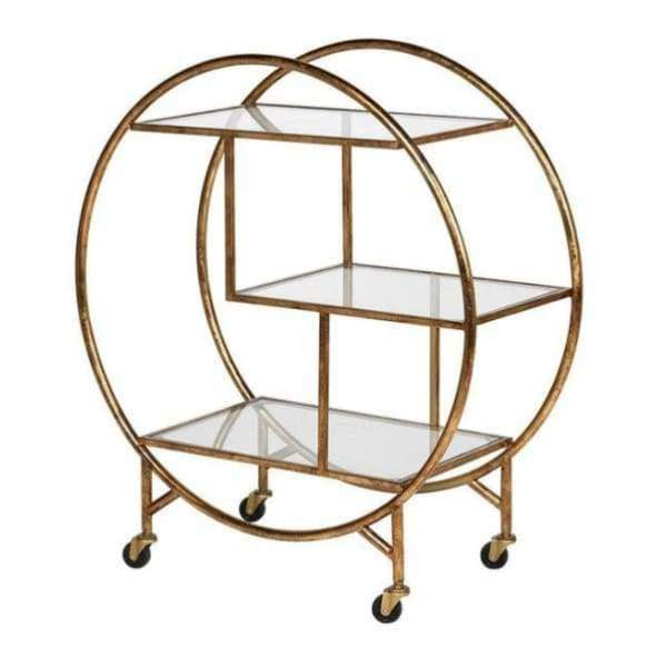 Furniture - Circular Cocktail Trolley