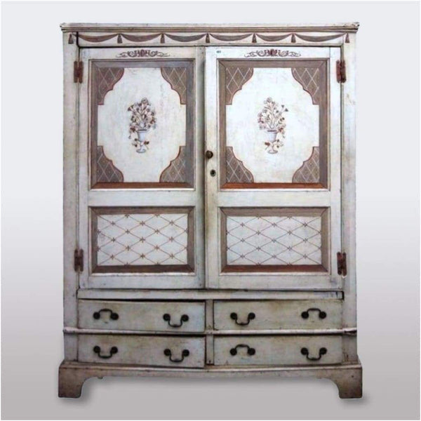 Furniture - George III Cupboard Painted By Fleur Cowles