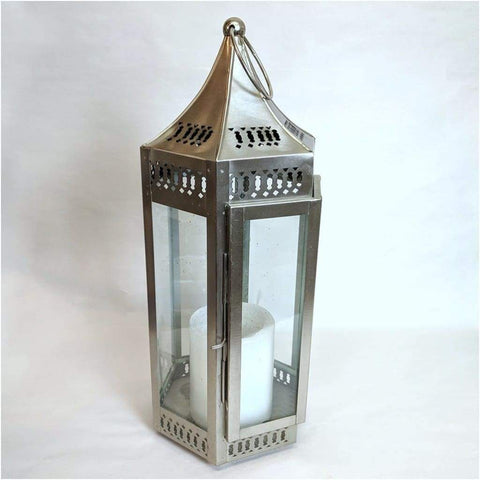 Garden - Chrome Lantern Glass