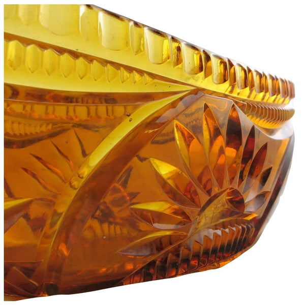 Glass - Amber Pressed Glass Bowl