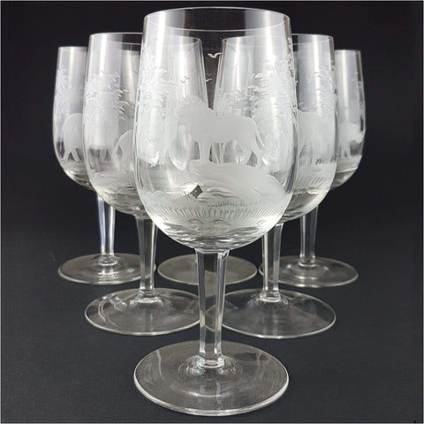 Glass - Rowland Ward Wine Glasses, Set Of 12