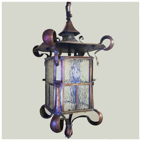 Lighting - Folded Copper Hall Lantern