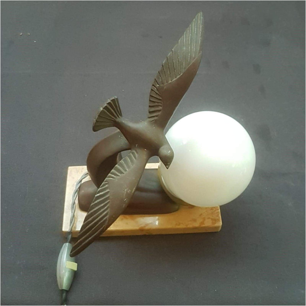 Lighting - French Art Deco Seagull Lamp