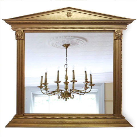 Mirrors - 20th-Century Gilt Overmantel Mirror