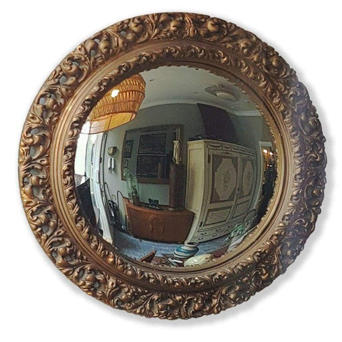 Mirrors - Vintage Gilt Convex Mirror