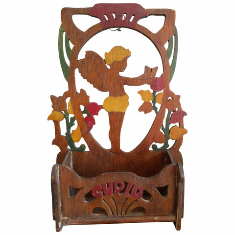 Miscellaneous - Cupid Painted Wooden Holder