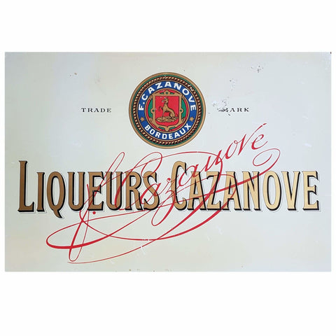 Miscellaneous - Liqueurs Cazanove Advertising Sign
