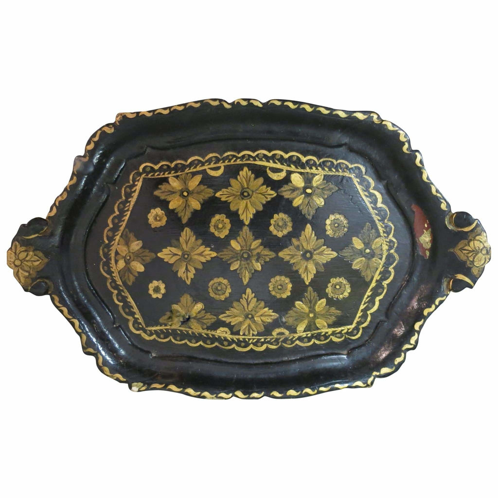 Miscellaneous - Victorian Painted Tole Tray