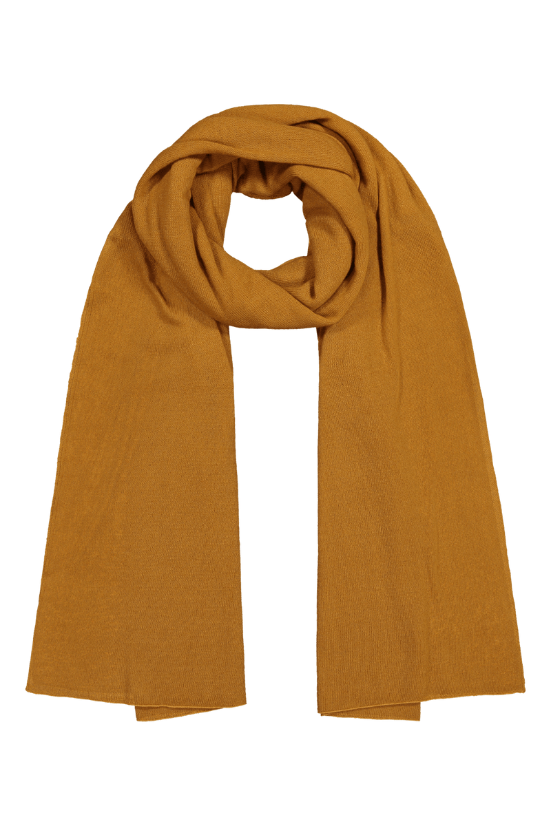 Knitted Cashmere Scarf, Marigold