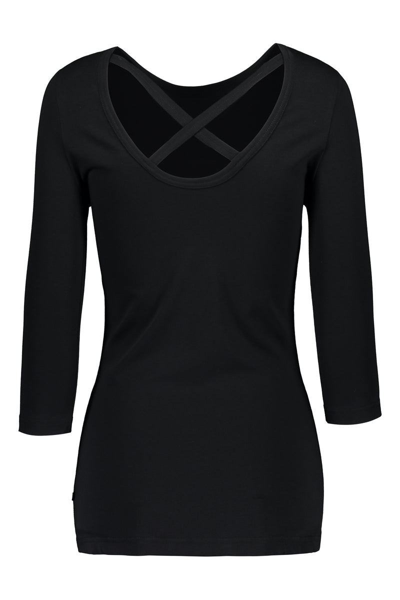 Cross Shirt 3/4 sl, Black