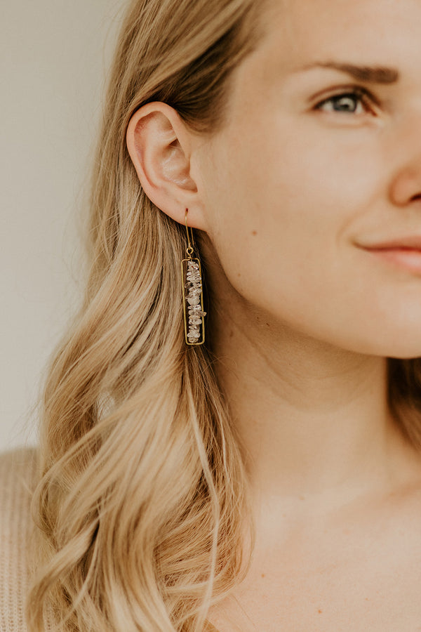 Amba Earrings, Crystal