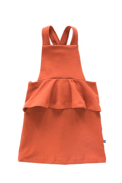 Peplum Dress, Rust