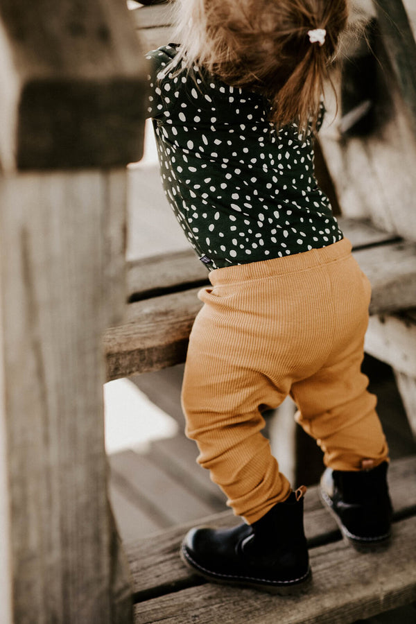 Rib Leggings, Ochre