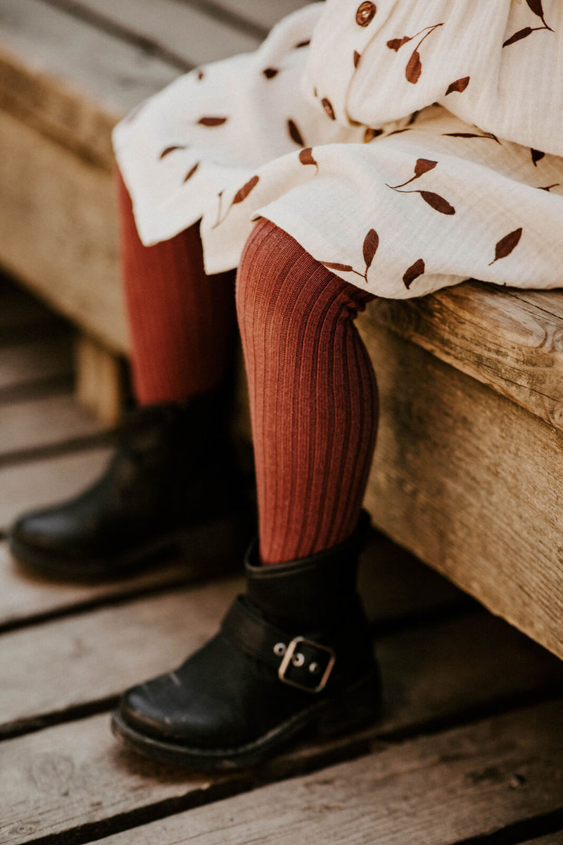 Rib Tights, Mahogany