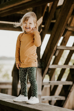 Wild Dots Leggings, Moss