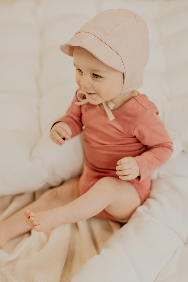 Baby Bonnet, Dusty Pink