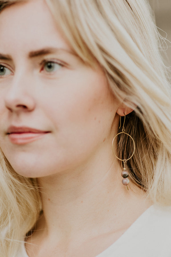 Avie Earrings, Rose