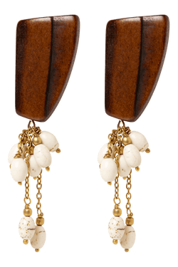 Buffalo Earrings, Howlite