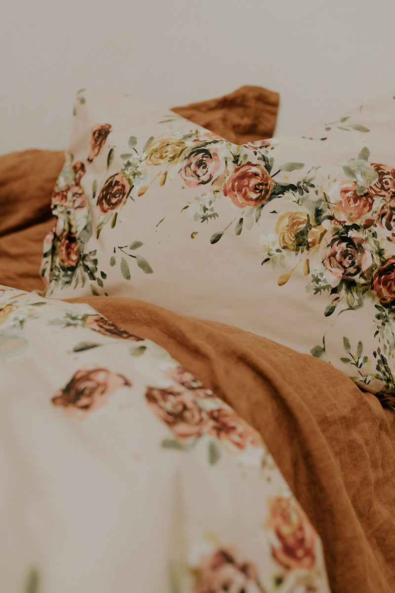 Duvet cover set, Rose Yard