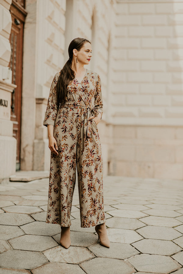 Belted Jumpsuit, Golden Botany