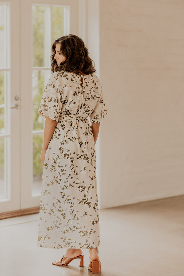 Boho Midi Dress, Clover Blossom
