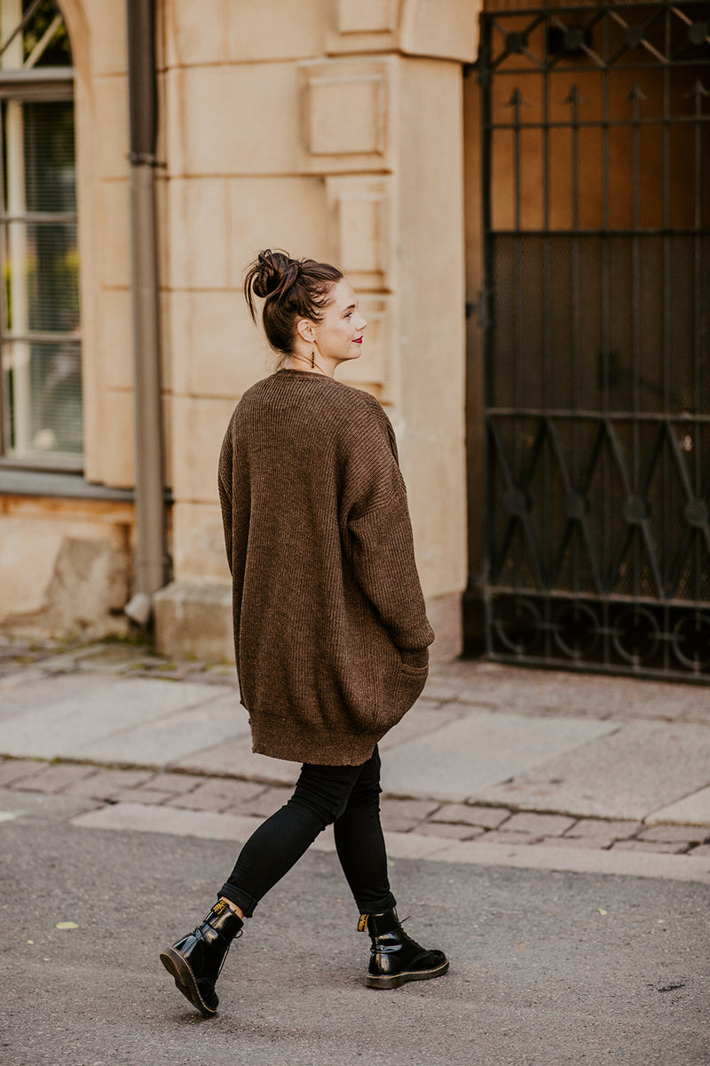 Chunky Cardigan, Brownie