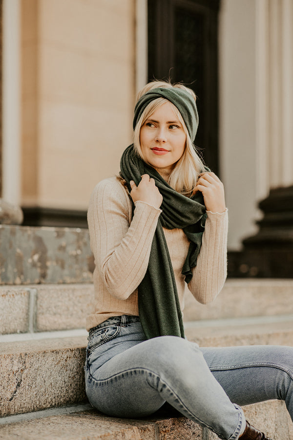 Knitted Cashmere Headband, Fig