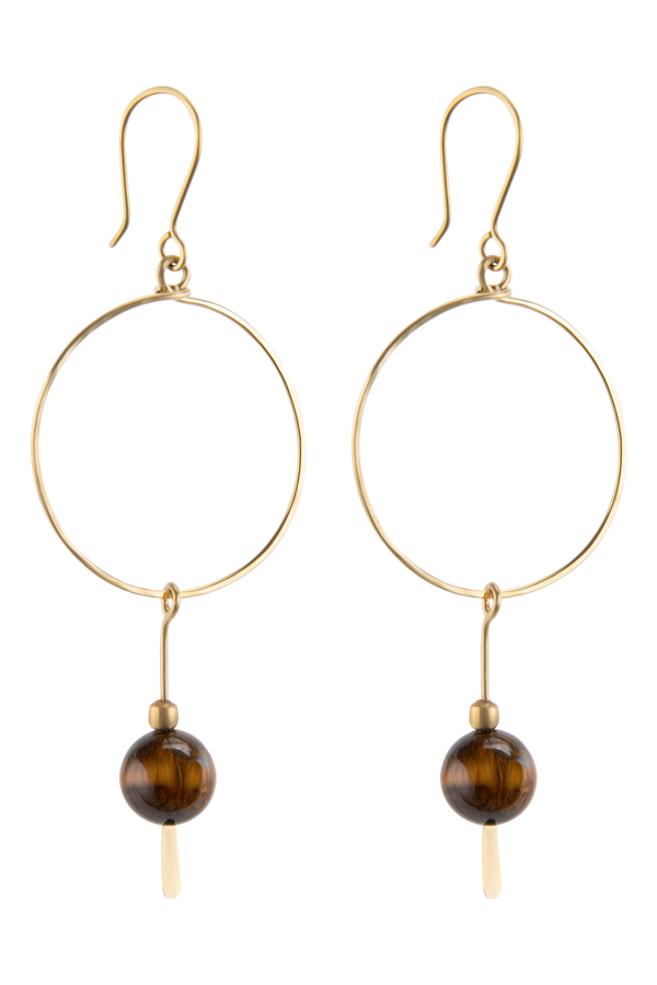 Avie Earrings, Brown