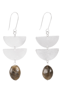 Harper Earrings, Grey