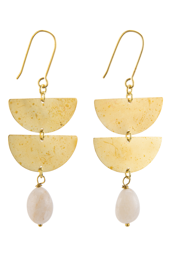 Harper Earrings, White