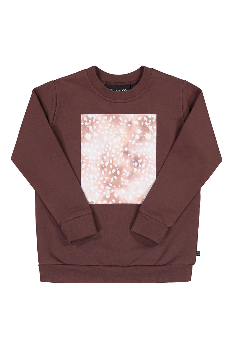 Copper Bambi Print Sweatshirt Ls, Roots