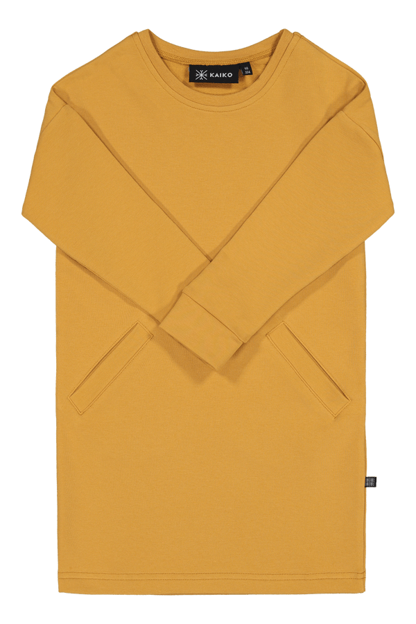 Chill Sweater Dress Ls, Ochre