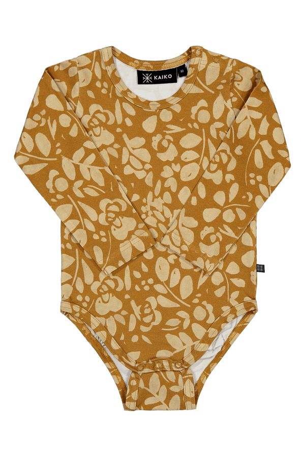 Floral Body Ls, Ochre
