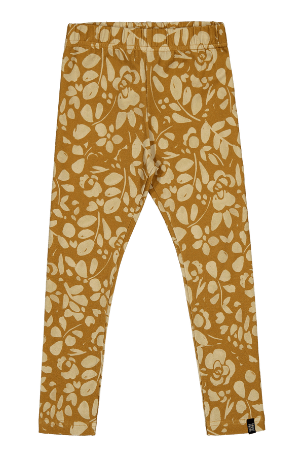 Floral Leggings, Ochre